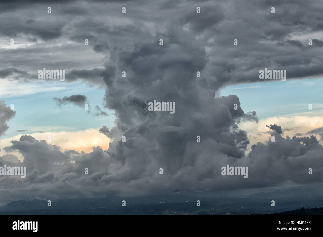 cloud formation in the Colombian sky - Stock Image