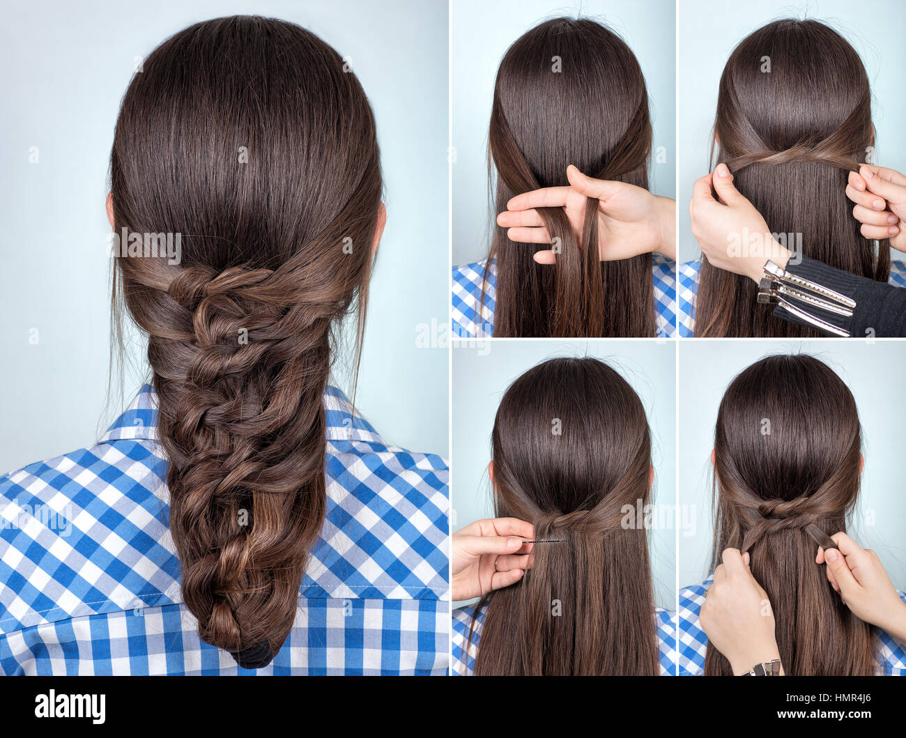 Simple Hairstyle High Resolution Stock Photography And Images Alamy
