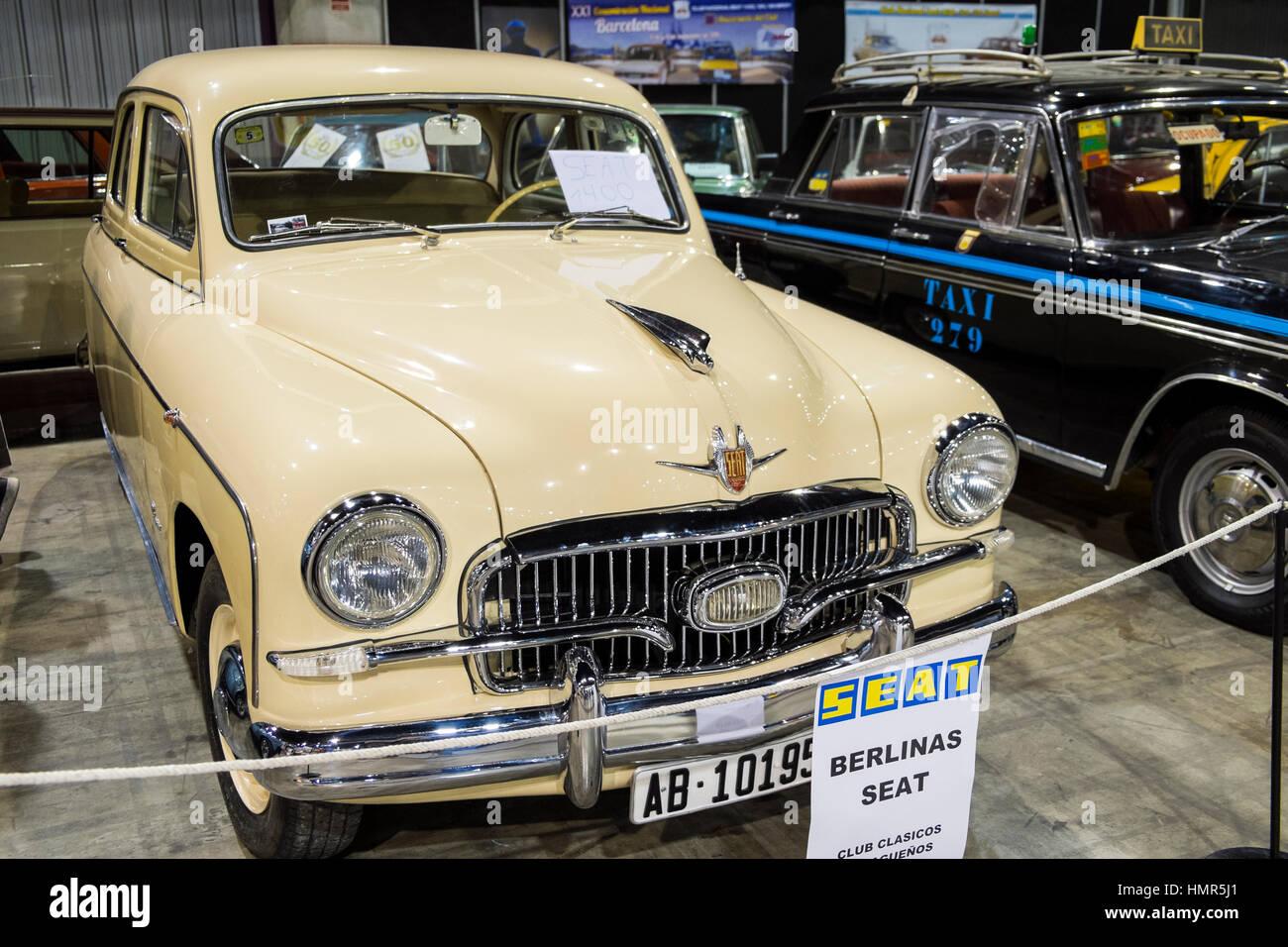 1959 Seat 1400B. Retro Málaga 2017 - Stock Image