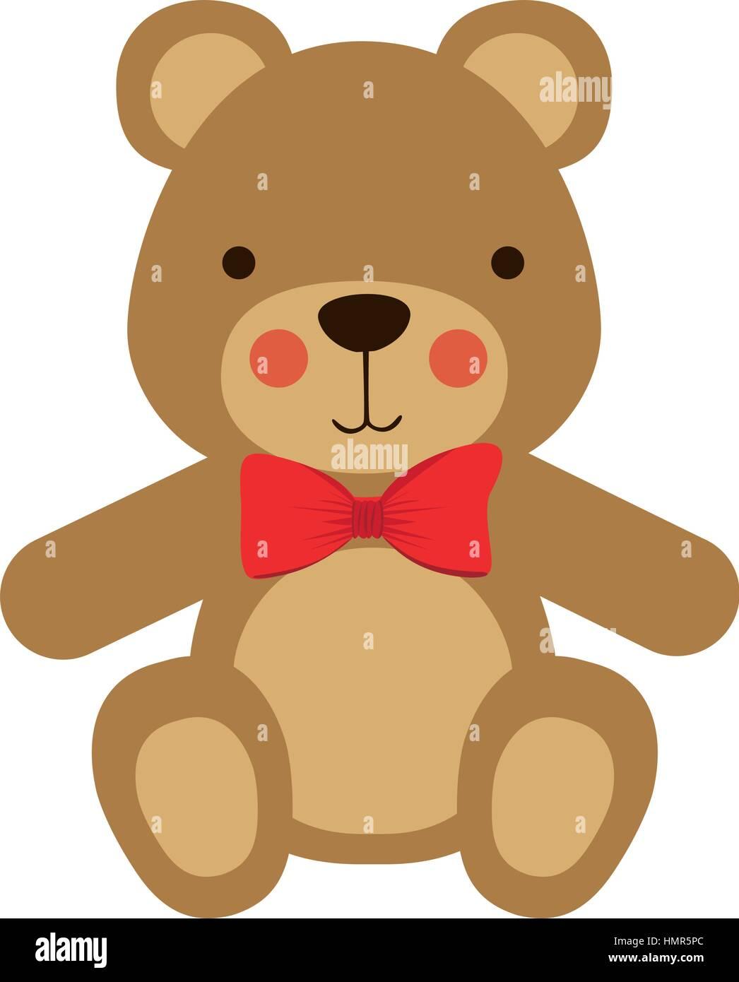 Cute Teddy Bear Icon Vector Illustration Graphic Design Stock