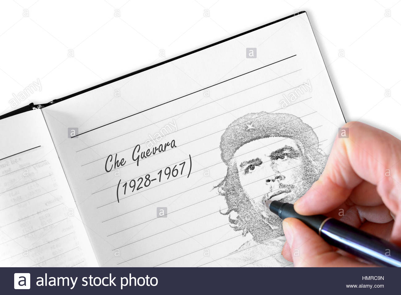 Che guevara sketched in notebook stock photo 133280273 alamy