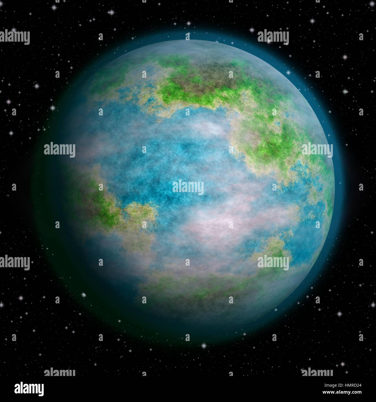 Realistic earth like planet texture Stock Photo: 133280844
