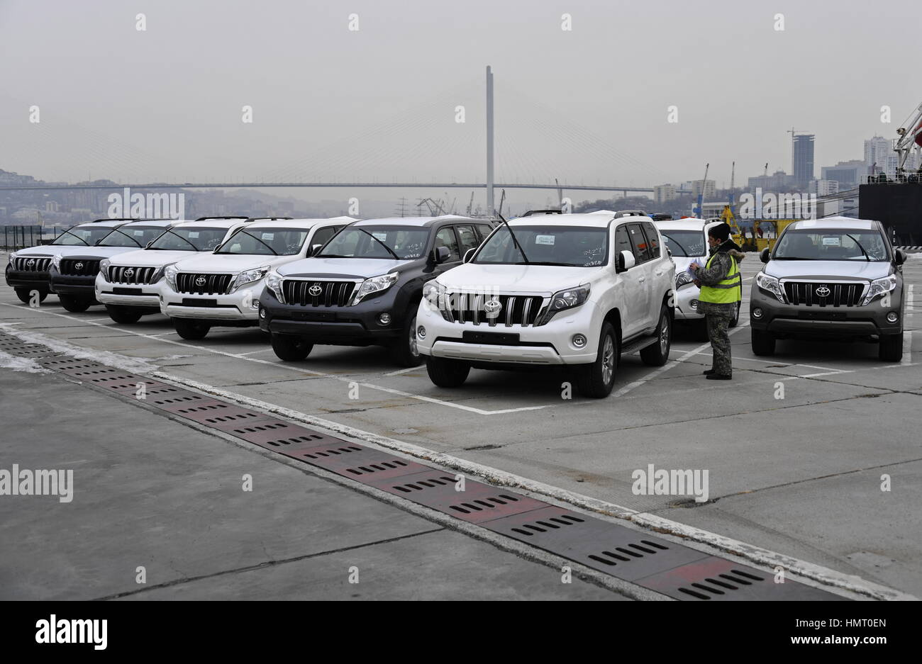 Vladivostok, Russia  5th Feb, 2017  Toyota cars imported