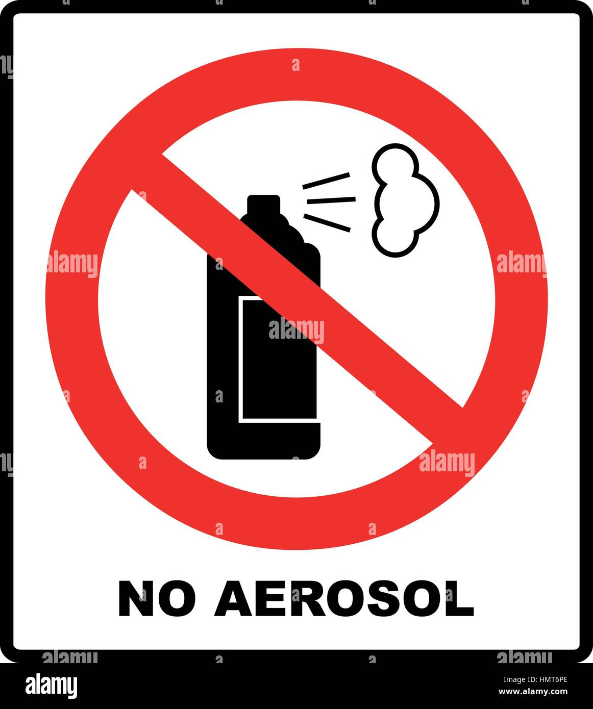 No aerosol spray sign, No alcohol sign vector illustration, red prohibition circle, for wall, buildings, public - Stock Vector