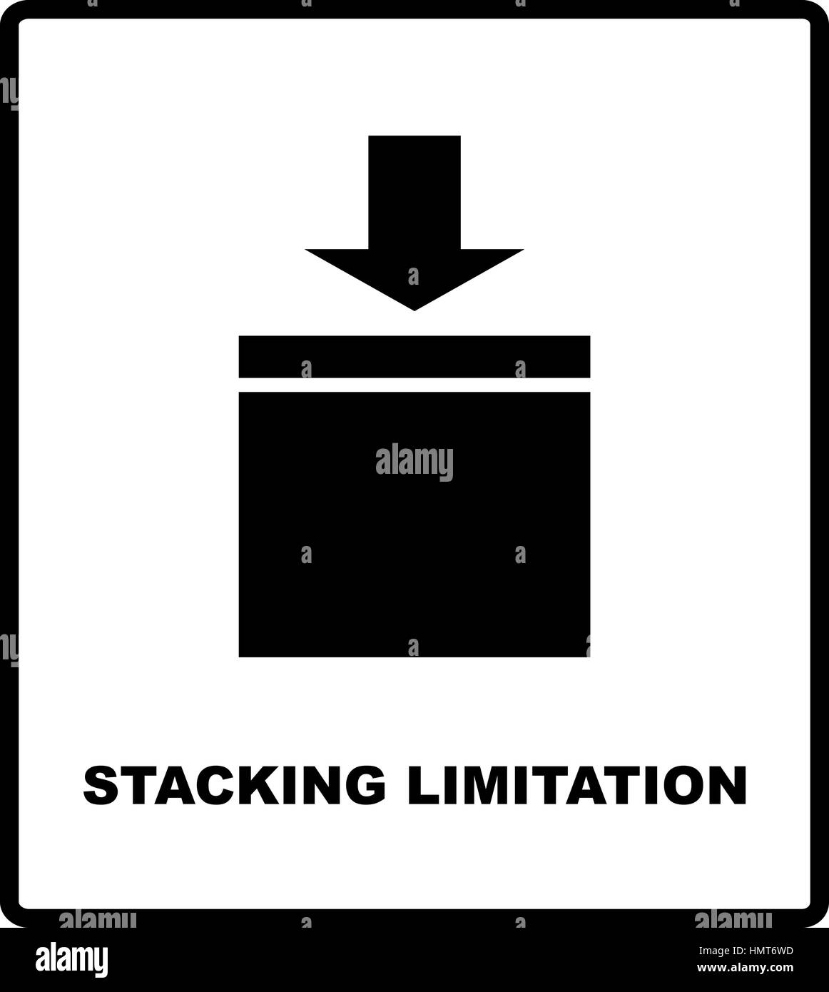 Stacking Limitation By Mass Vector Packaging Symbol On Vector Stock