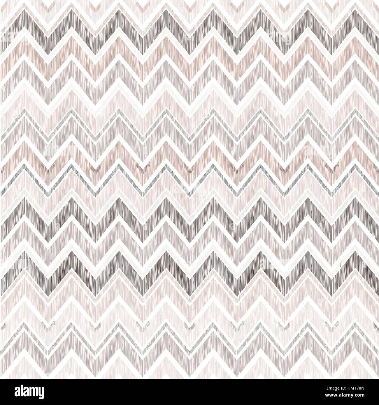 Abstract geometric seamless pattern  Fabric doodle zig zag