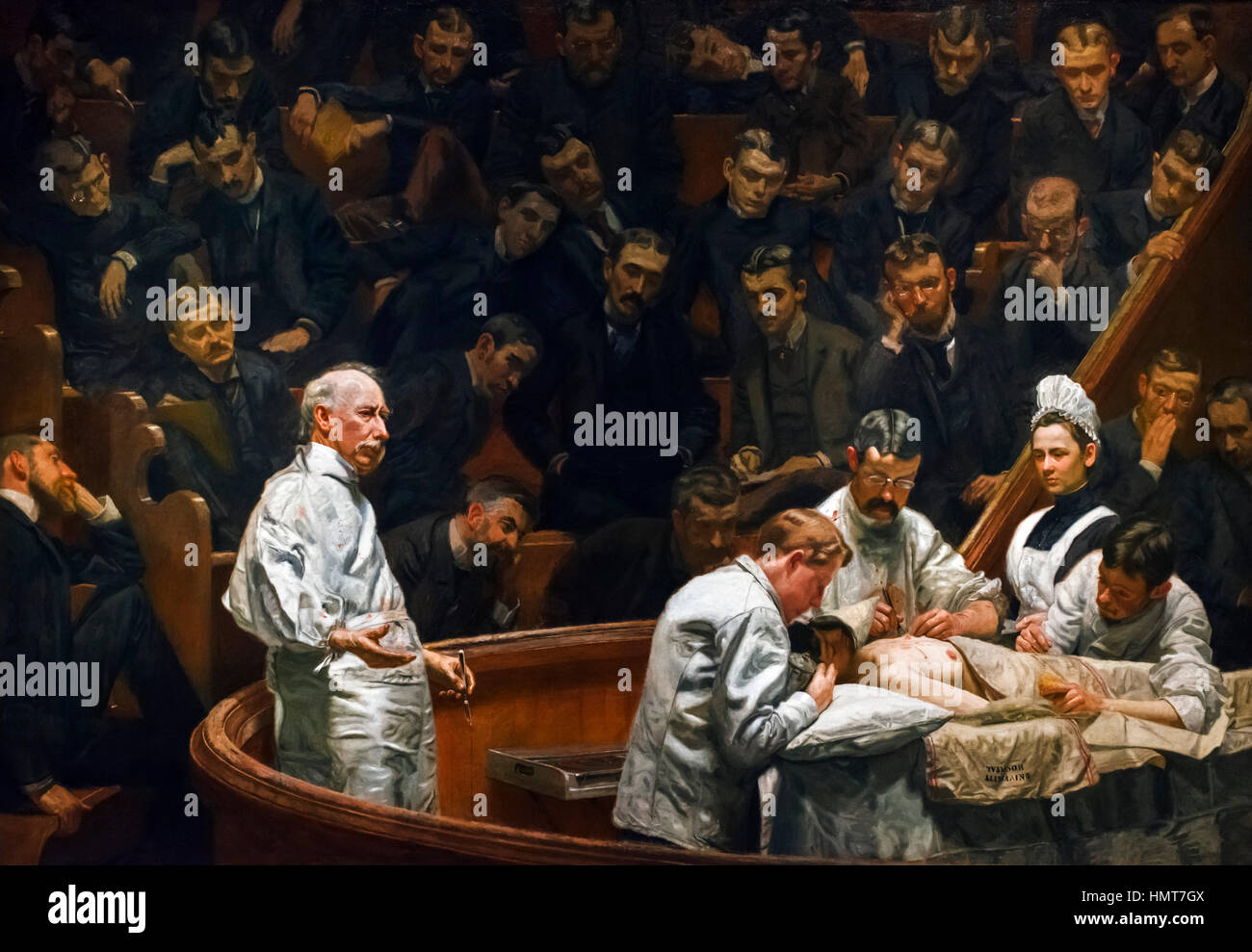 Thomas Eakins (1844-1916) 'The Agnew Clinic', oil on canvas, 1889 - Stock Image