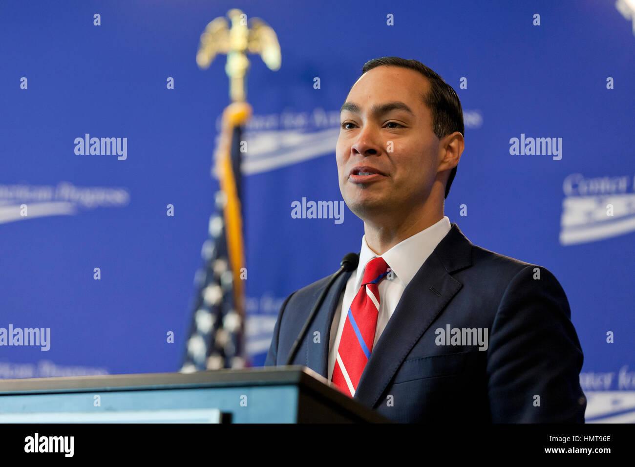 Julian Castro, Secretary of US Housing and Urban Development, 2014 to 2017. Stock Photo