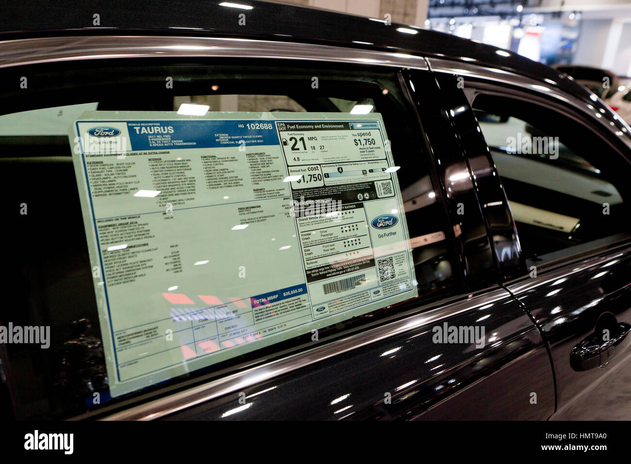 Ford Window Sticker >> Monroney Sticker Window Sticker On 2017 Ford Taurus Sedan