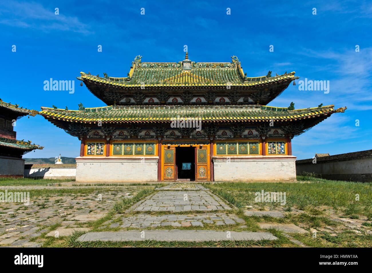 Eastern Zuu temple, Erdene Zuu monastery, Kharkhorin, Övörkhangai Aimag, Mongolia - Stock Image
