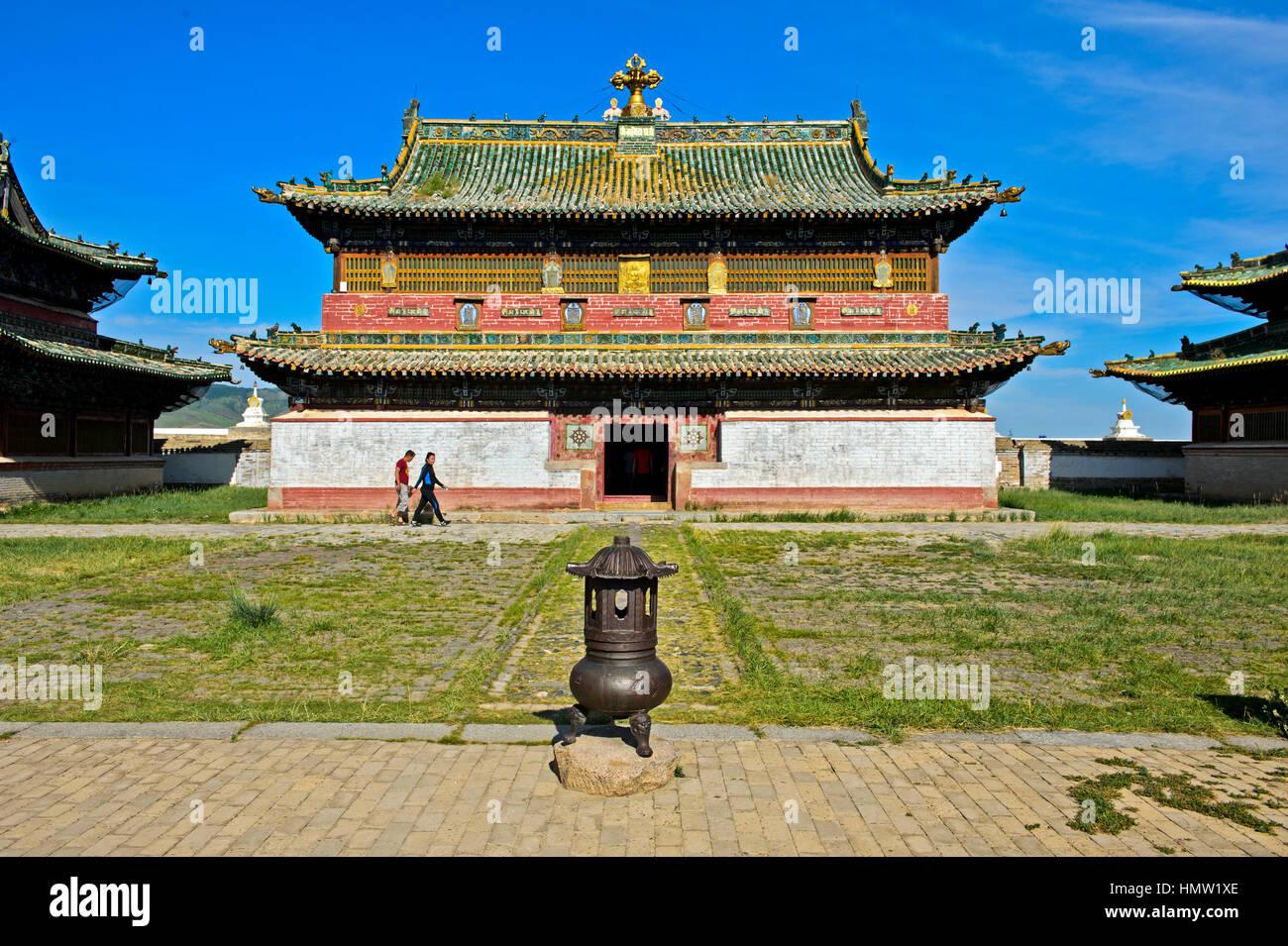 Main temple, Erdene Zuu monastery, Kharkhorin, Övörkhangai Aimag, Mongolia - Stock Image