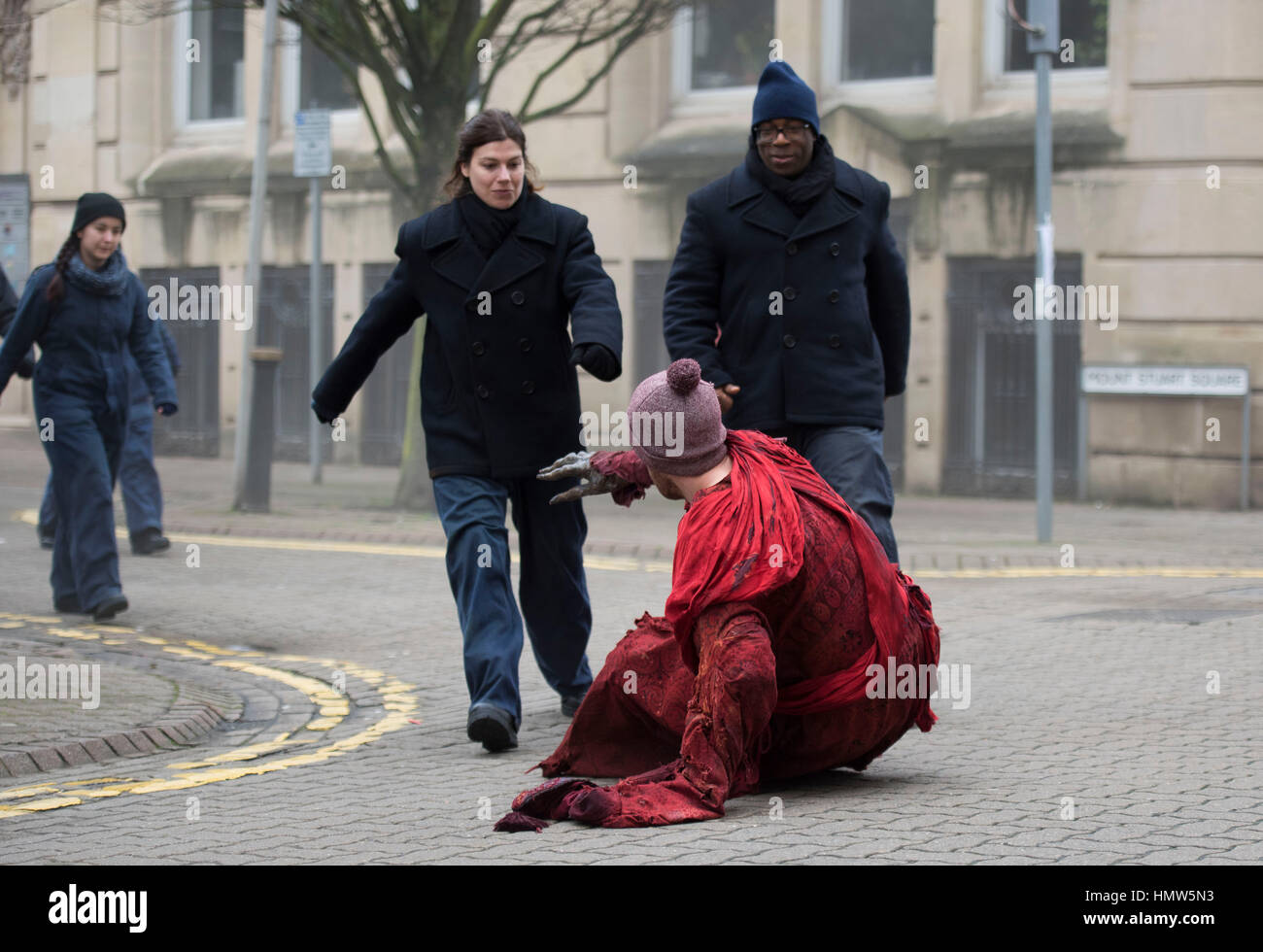 Costume actors spotted during filming for BBC show Doctor Who in Cardiff South Wales UK.  sc 1 st  Alamy & Costume actors spotted during filming for BBC show Doctor Who in ...