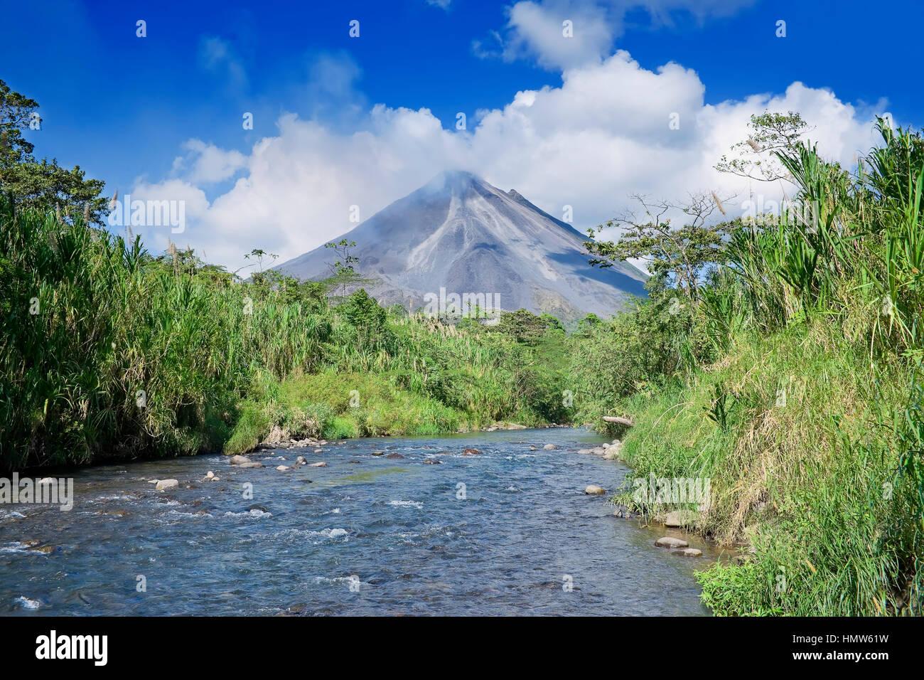 Arenal Volcano, La Fortuna, Costa Rica - Stock Image