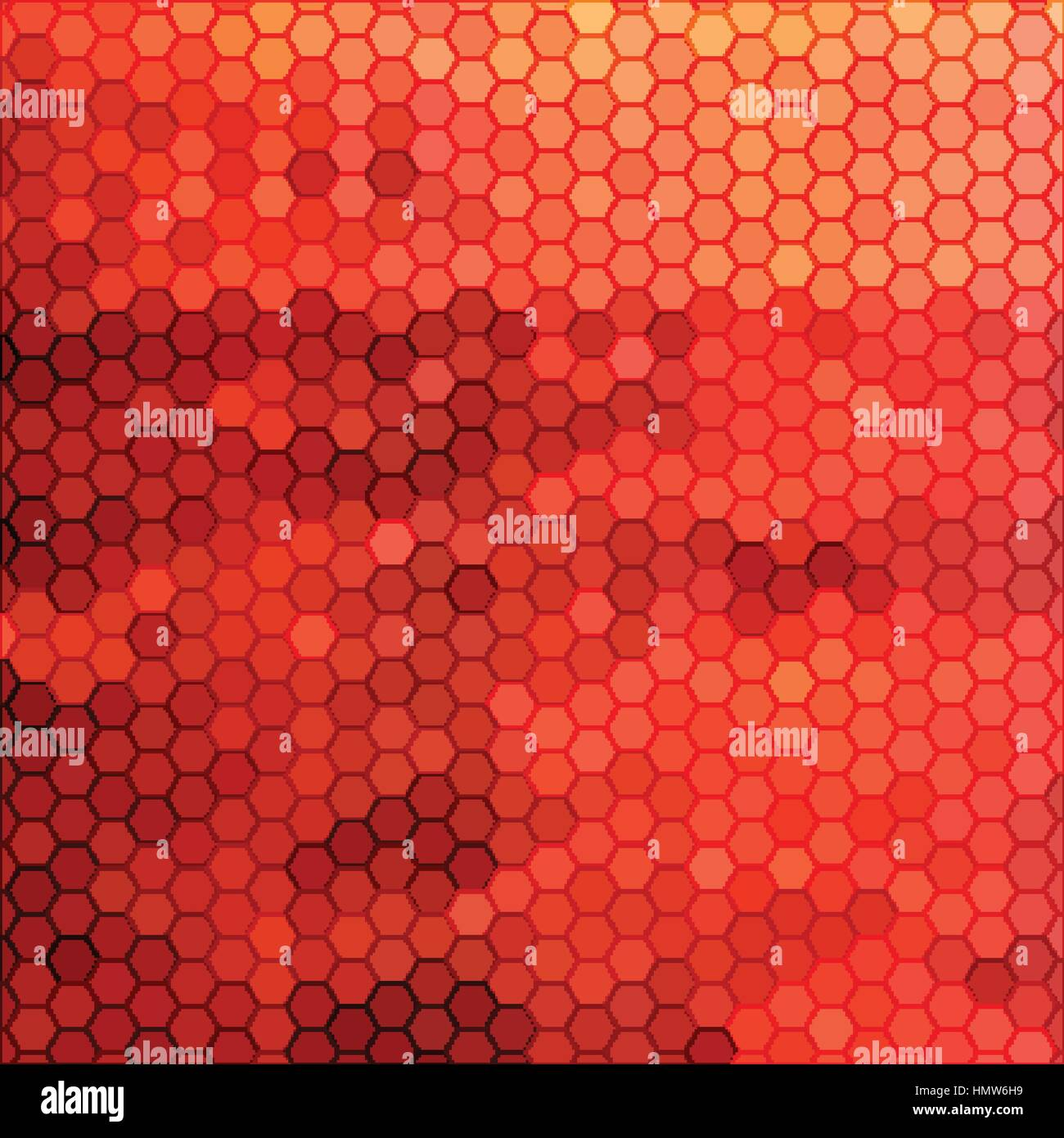 abstract geometric hexagon background - Stock Image