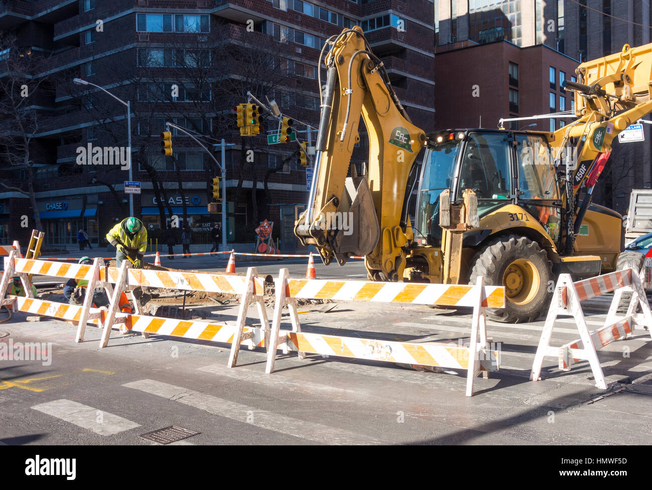 Construction work on the infrastructure of New York City - Stock Image