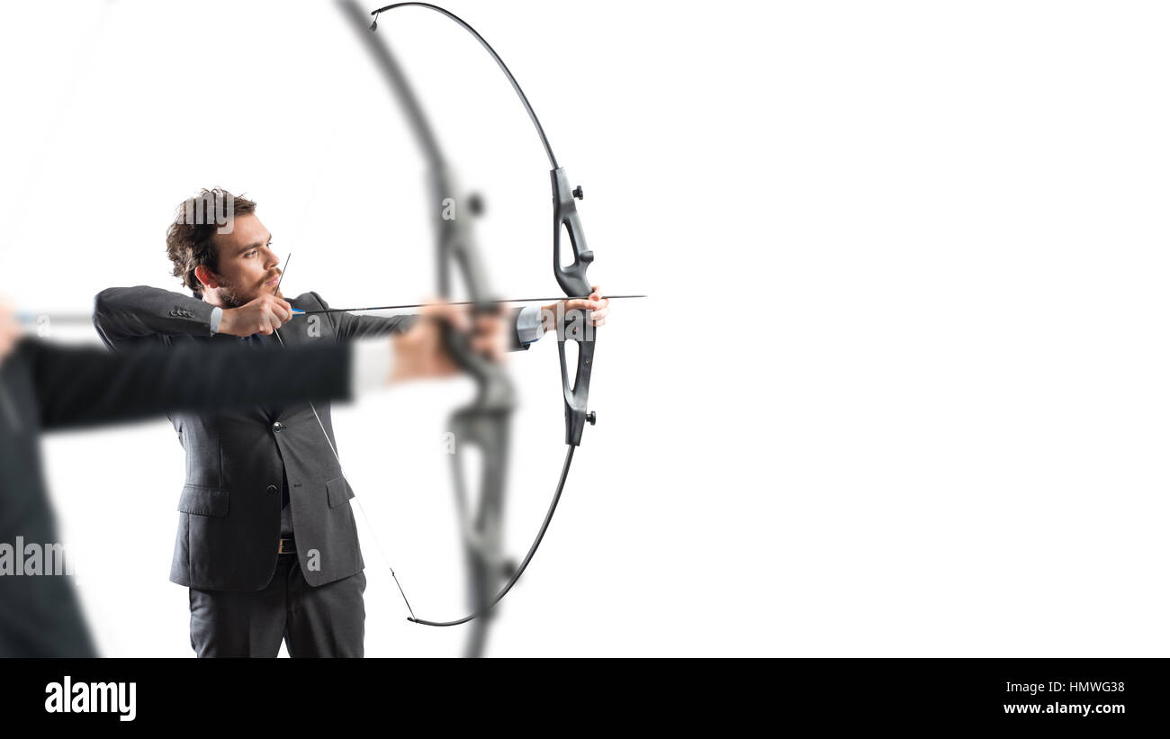 Challenge for reach and hit new business targets - Stock Image