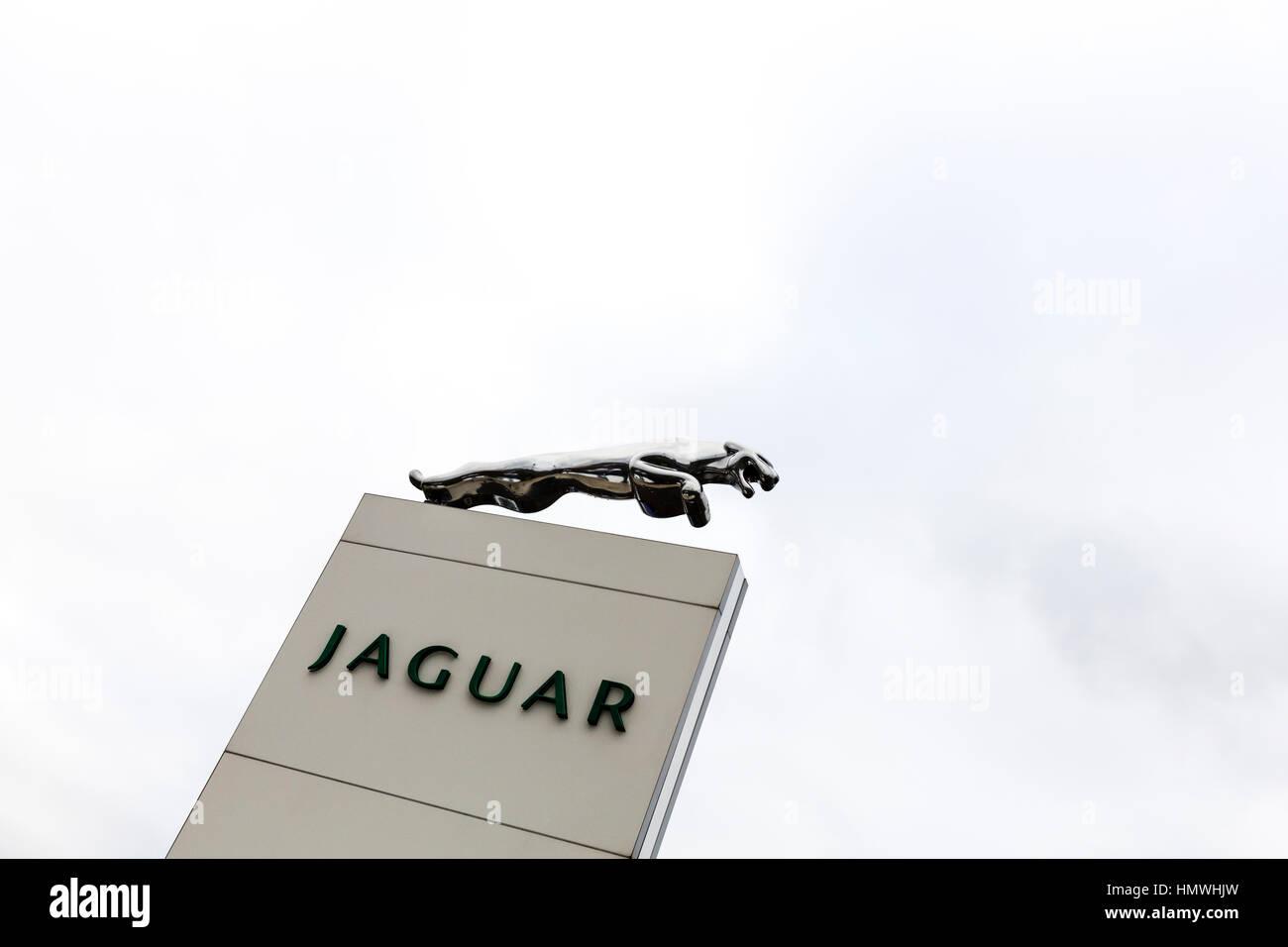 Jaguar Sign Stock Photos Amp Jaguar Sign Stock Images Alamy
