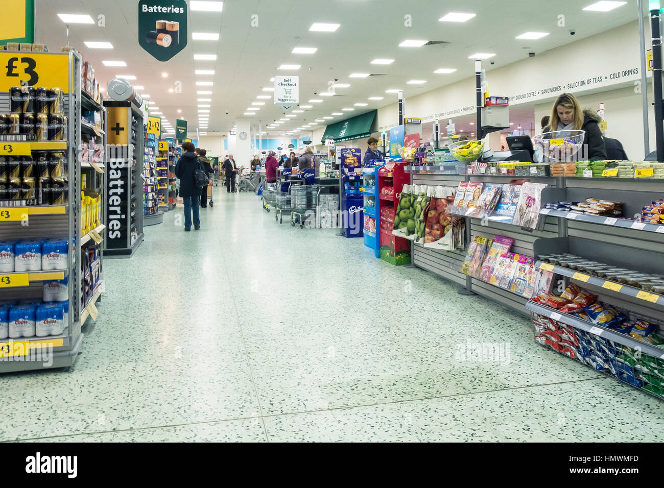 The interior of a Morrisons supermarket. - Stock Image