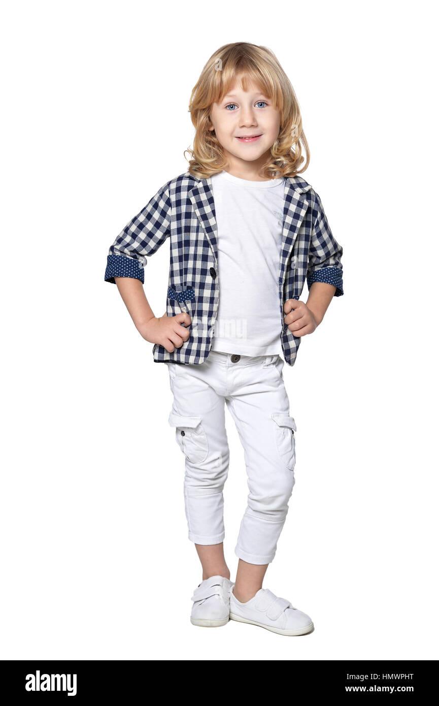 cute fashionable boy  - Stock Image