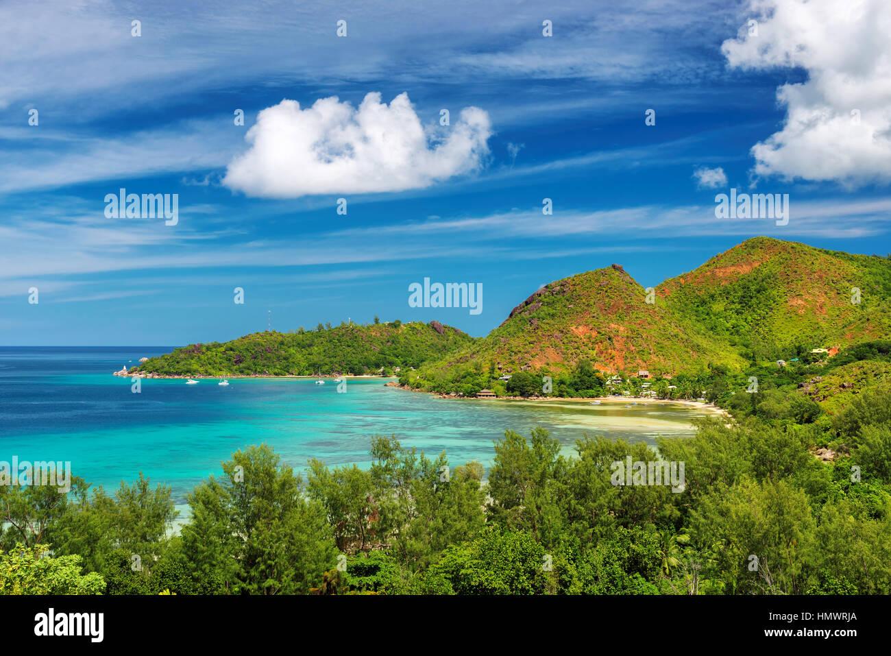 Praslin island at Seychelles - Stock Image