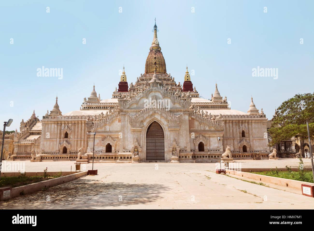 Ananda Temple on Bagan Plain, Myanmar, Burma Stock Photo