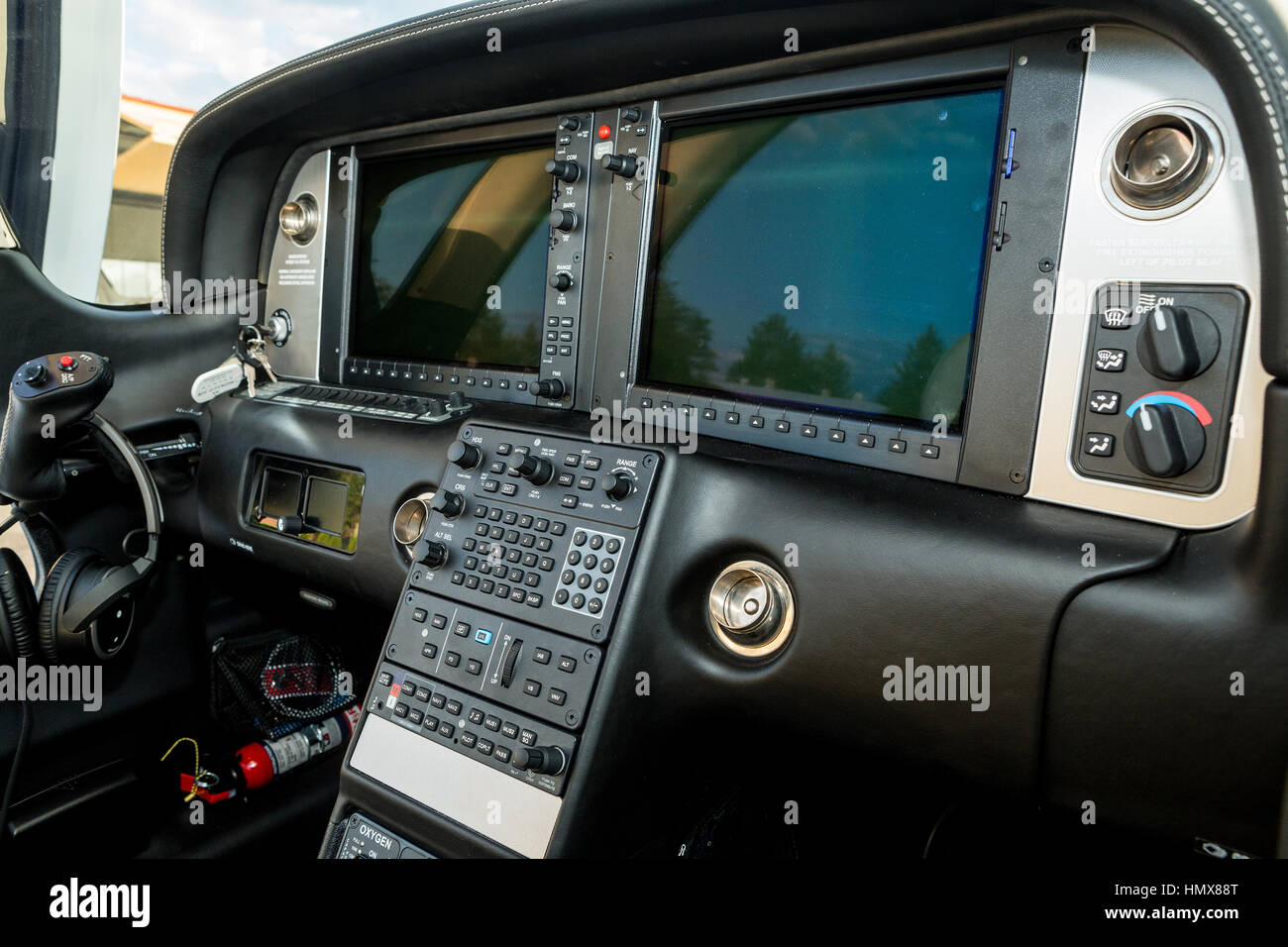 The Dashboard Sports A Small Aircraft Navigation Devices And Two