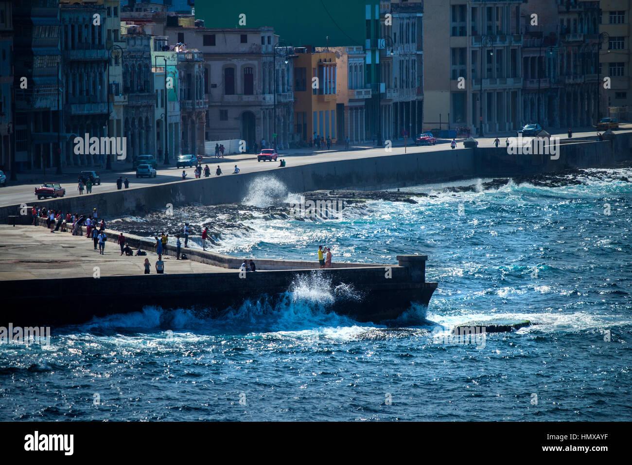 Cuba Havana Malecon - Stock Image