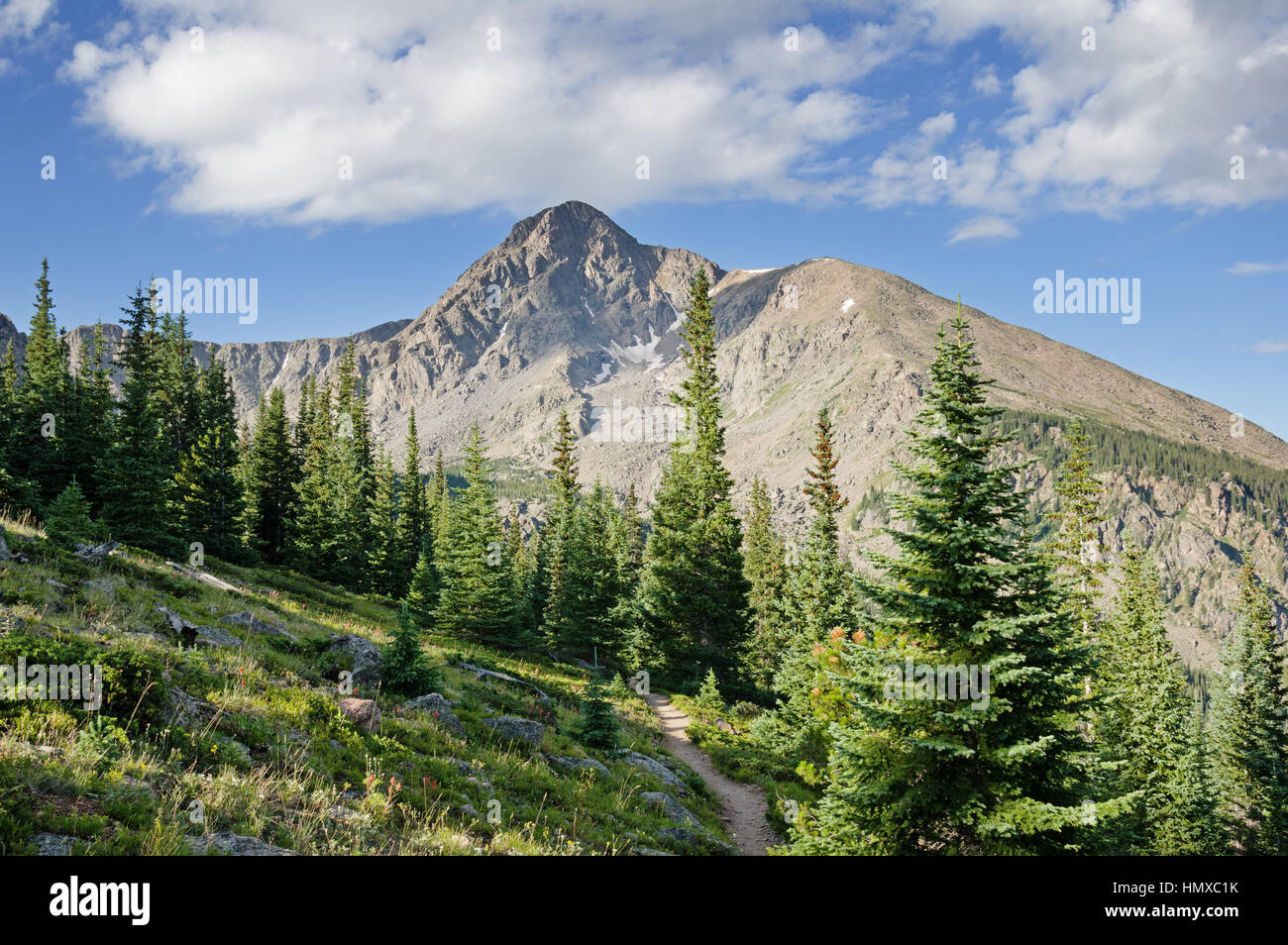 Mount of the Holy Cross from near Half Moon Pass - Stock Image