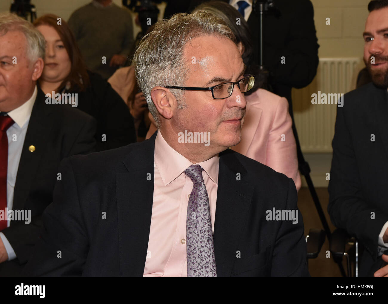 County Armagh, Ireland. 6th Feb, 2017. SDLP West Belfast Candidate Alex Attwood during the parties Election Campaign - Stock Image