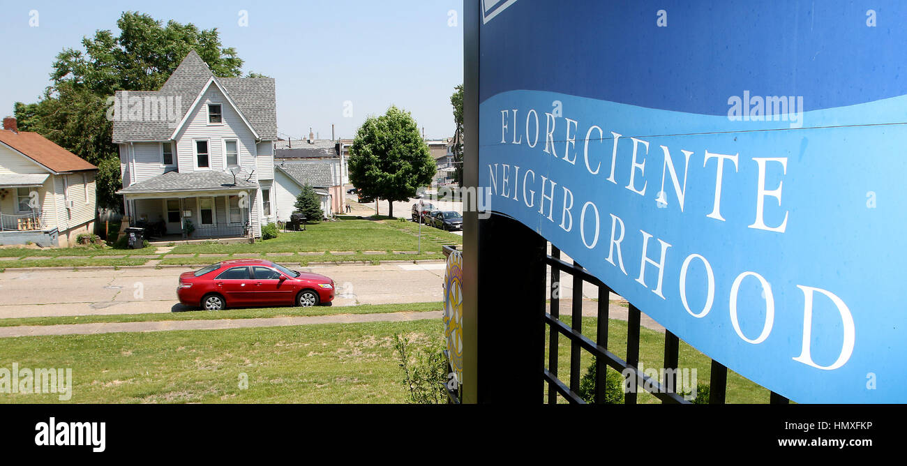 June 10, 2016 - Iowa, U.S. - In the early days Moline's Floreciente neighborhood was the Belgians and Swedes - Stock Image