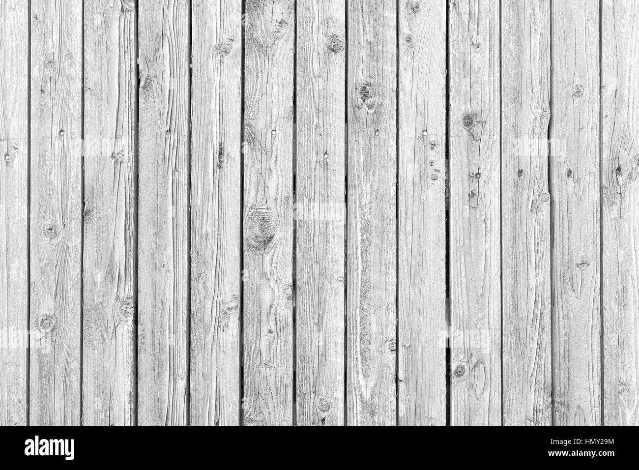 Old wood texture with weathered white paint - Stock Image
