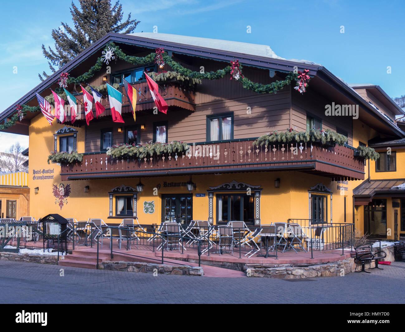 hotel gasthof gramshammer, vail village, winter, vail ski resort