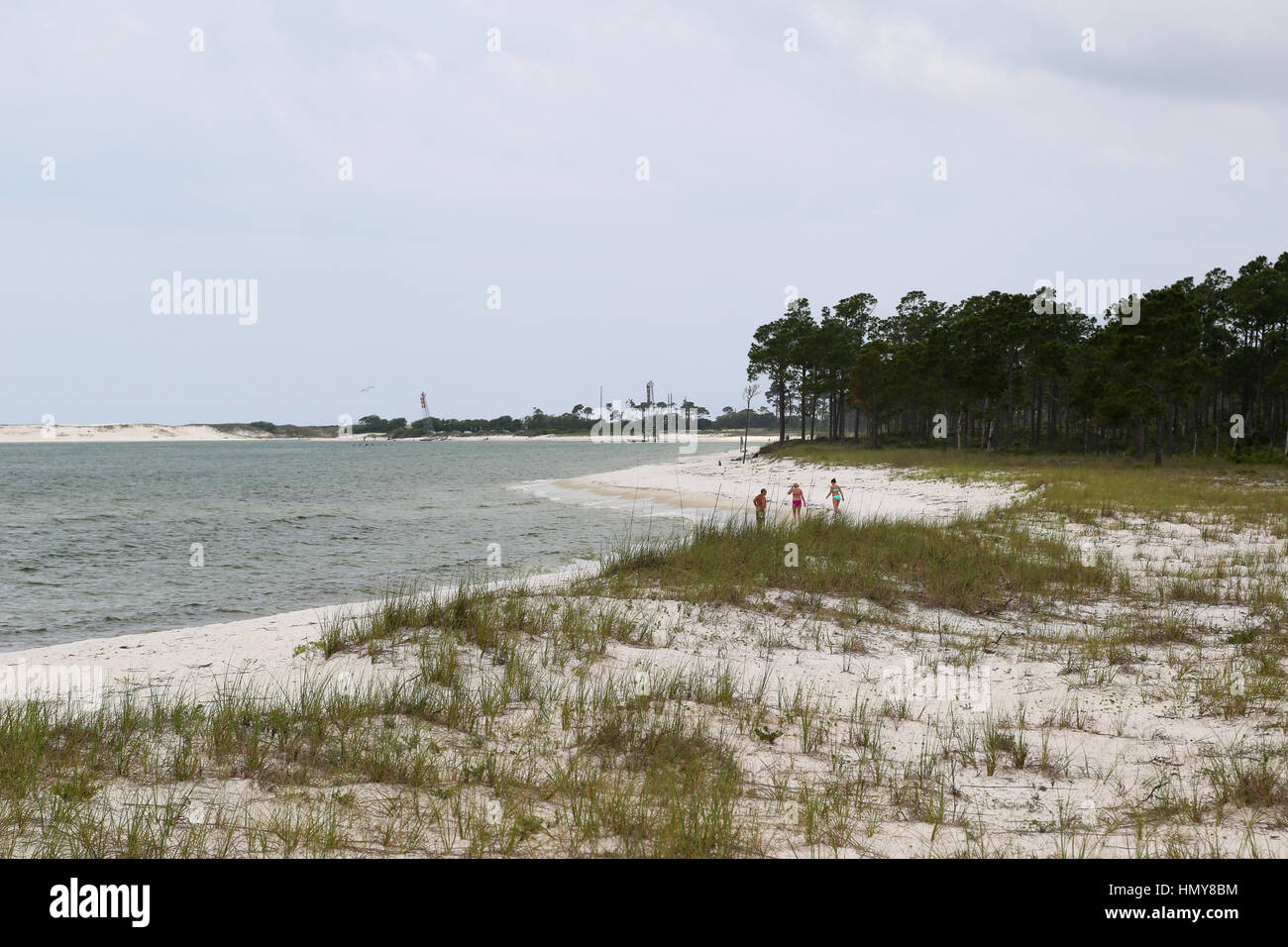 Pensacola Bay and the Beach at NAS Pensacola - Stock Image