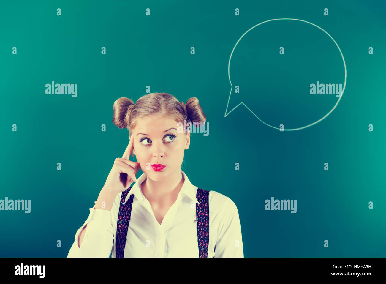 Think before you say something! - Stock Image