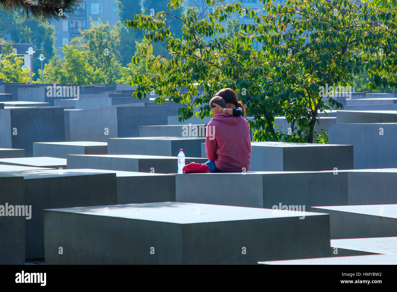 Monument to the Murdered Jews of Europe in Berlin Stock Photo