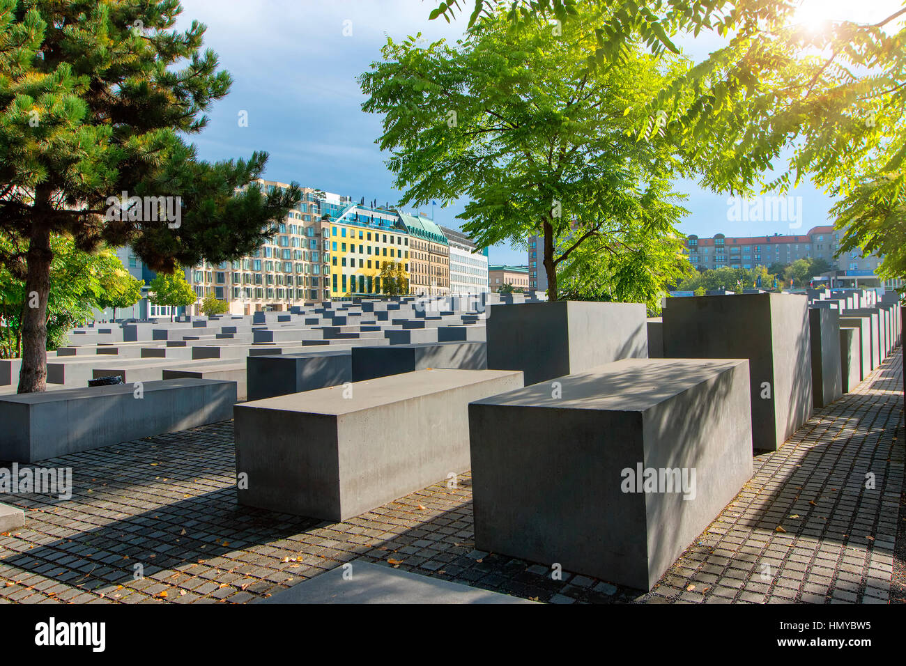 Monument to the Murdered Jews of Europe in Berlin - Stock Image