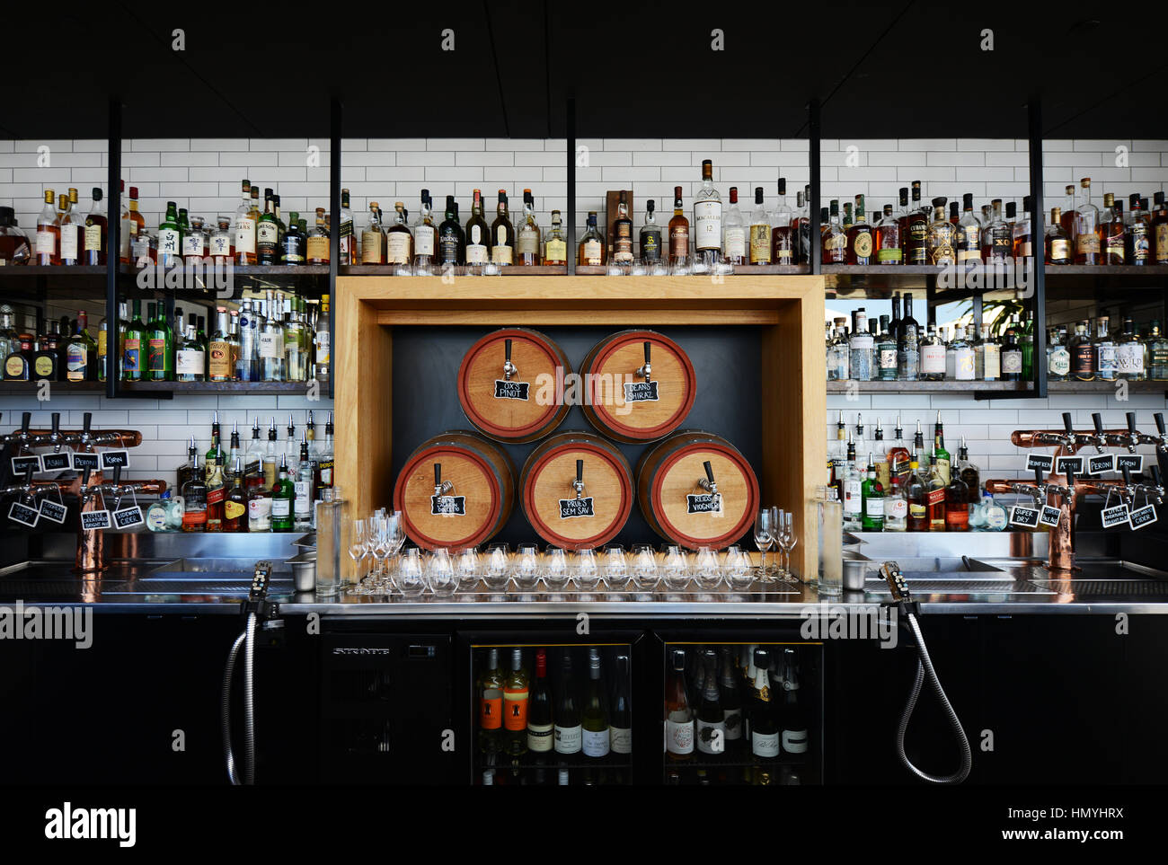 The trendy 2kw rooftop bar in Adelaide, Australia. - Stock Image