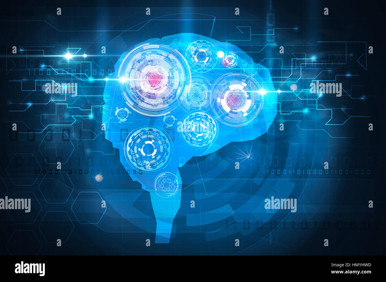 blue brain technology science - Stock Image