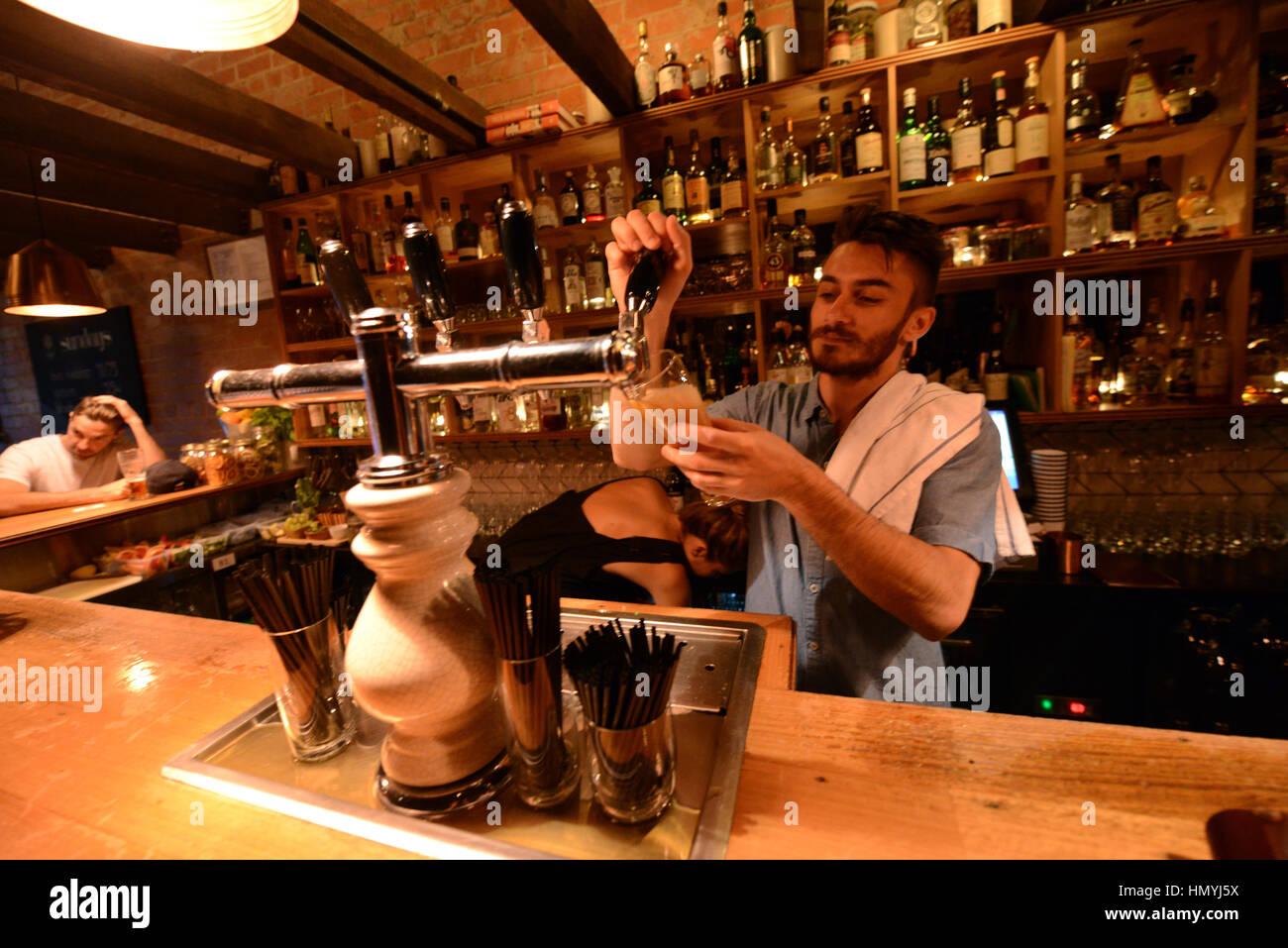 The trendy cool Udaberri Pintxos Y Vino bar in Adelaide, Australia. - Stock Image