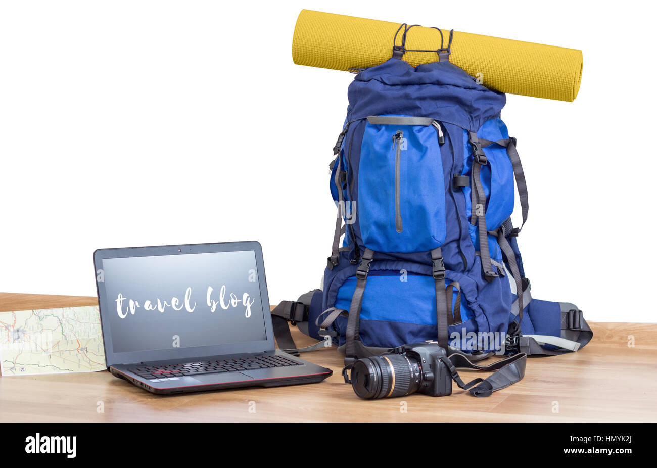 travel blog - Stock Image