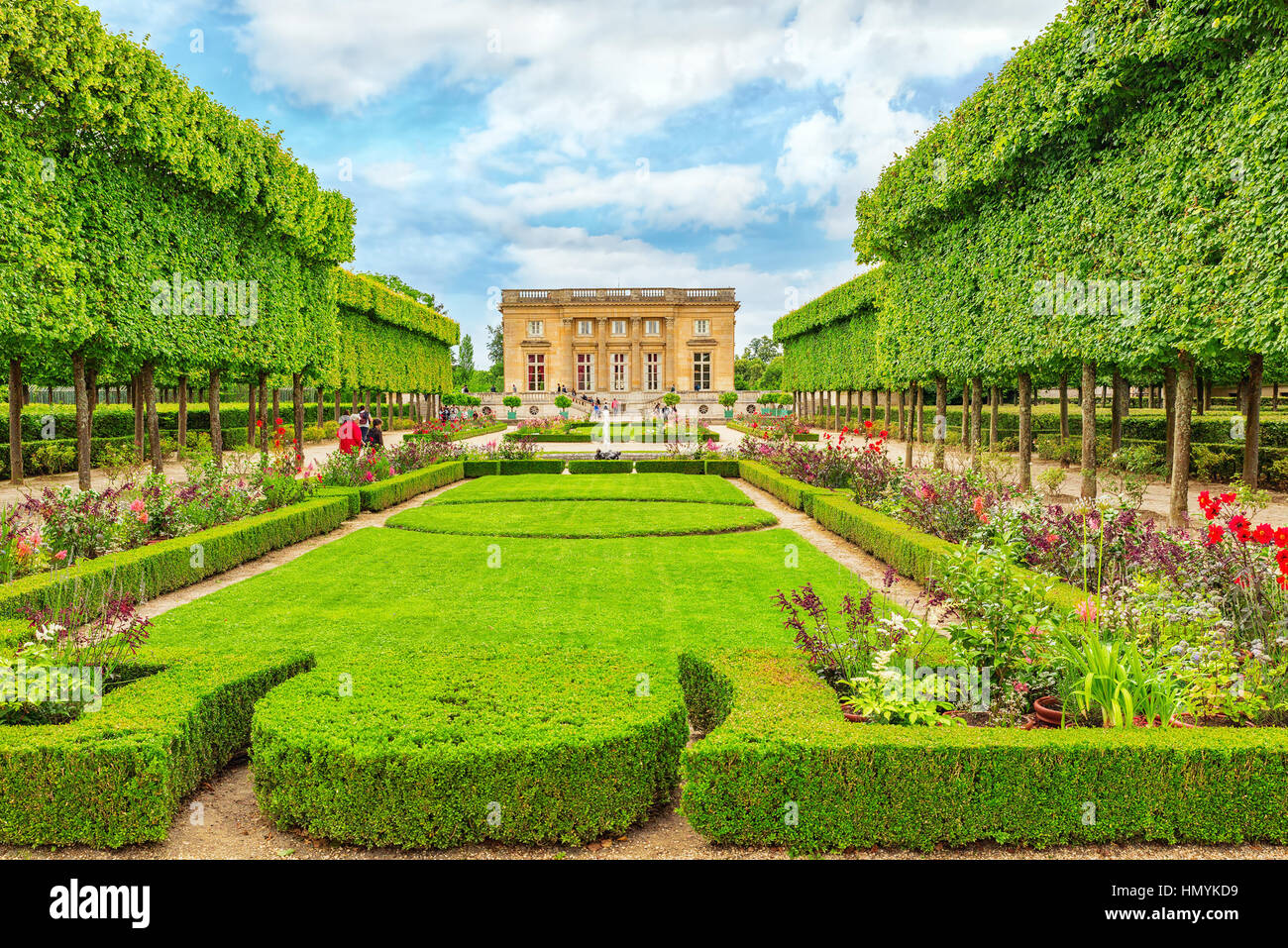 VERSAILLES, FRANCE - JULY 02, 2016 : Petit Trianon-beautiful Garden in a Famous Palace of Versailles (Chateau de - Stock Image