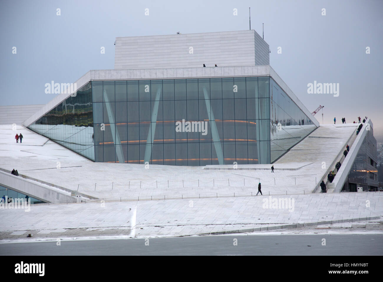 The Oslo Opera House, is the home of The Norwegian National Opera and Ballet, and the national opera theatre in - Stock Image