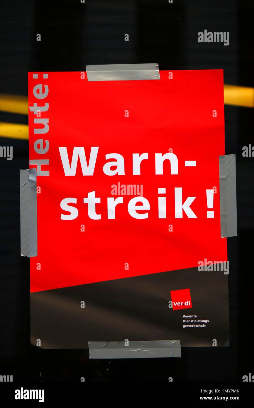 Impressionen 'Sreik', 'Warnstreik', Berlin-Mitte. - Stock Image