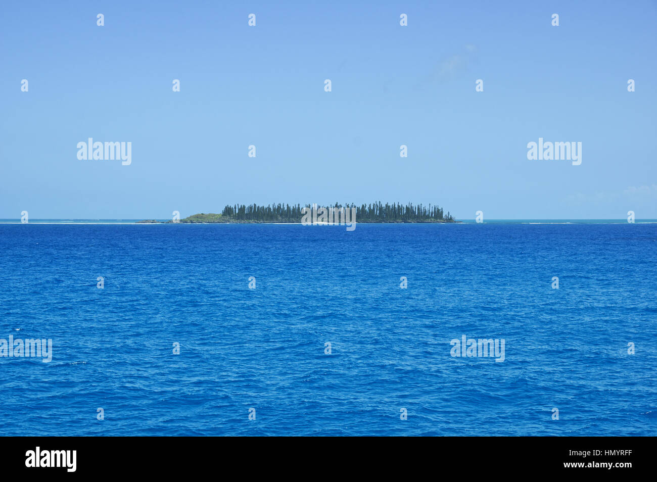 tropical island near Ile Des Pins in New Caledonia - Stock Image