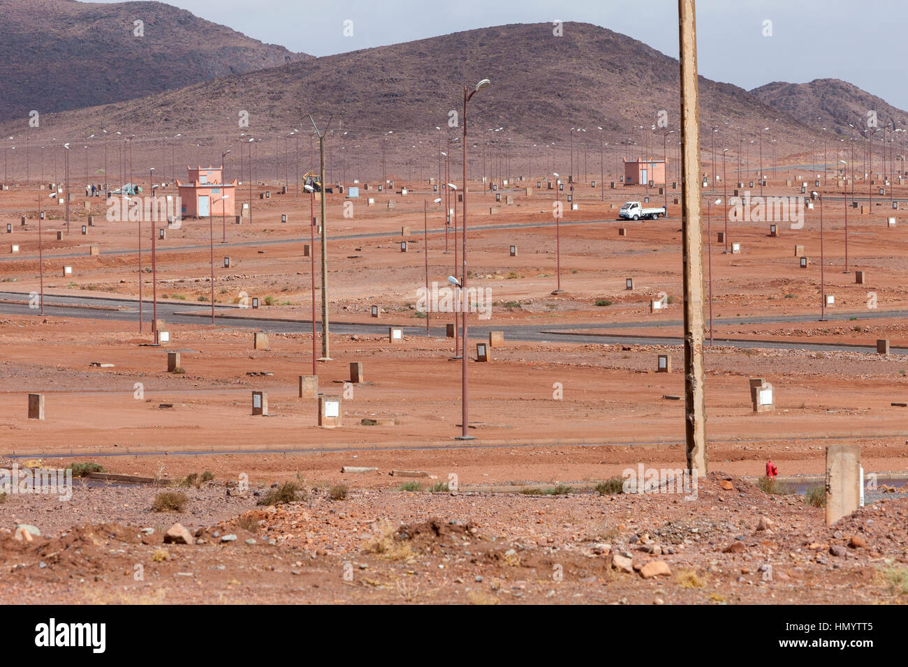 Ouarzazate, Morocco.  Planning for Future Urban Development. - Stock Image