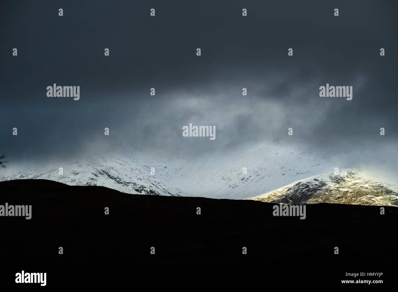Black Mount, the highlands, Scotland, Britain. - Stock Image