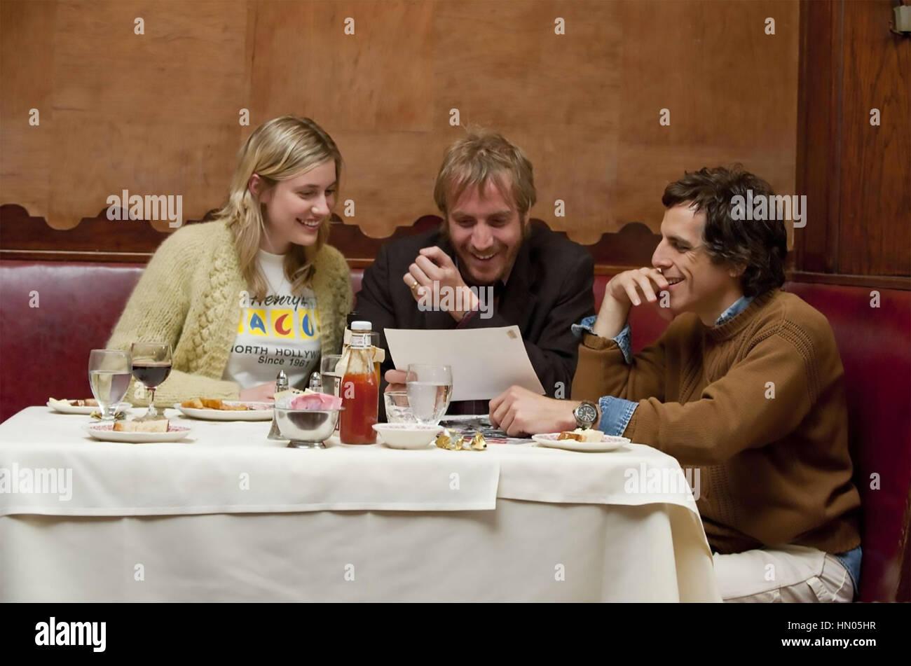 GREENBERG 2010 Scott Rudin film with from left: Greta Gerwig, Rhys Ifans, Ben Stiller - Stock Image