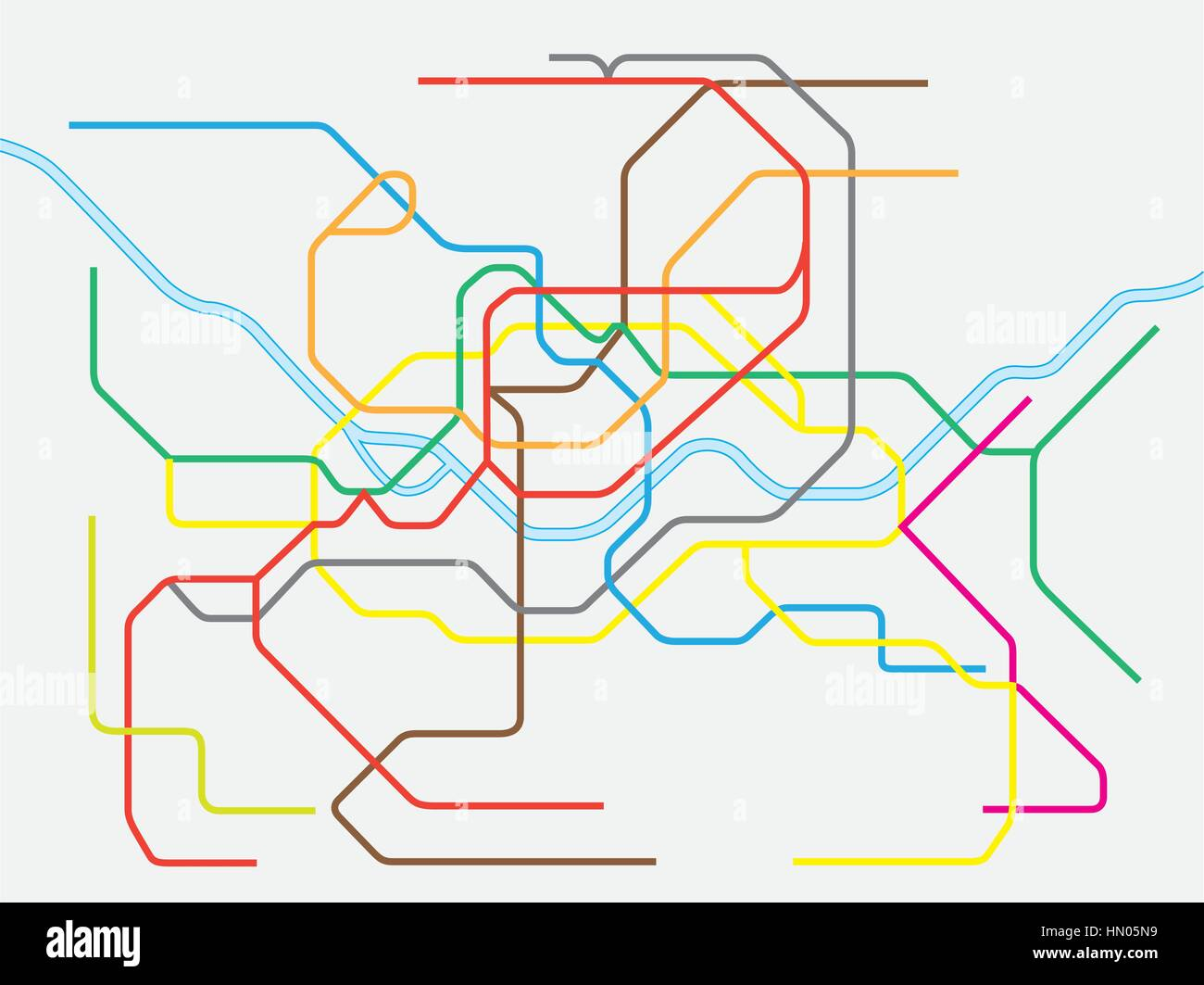 Seoul Metropolitan Subway Map Download.Colorful Seoul Metropolitan Subway Map Eps Stock Vector Art