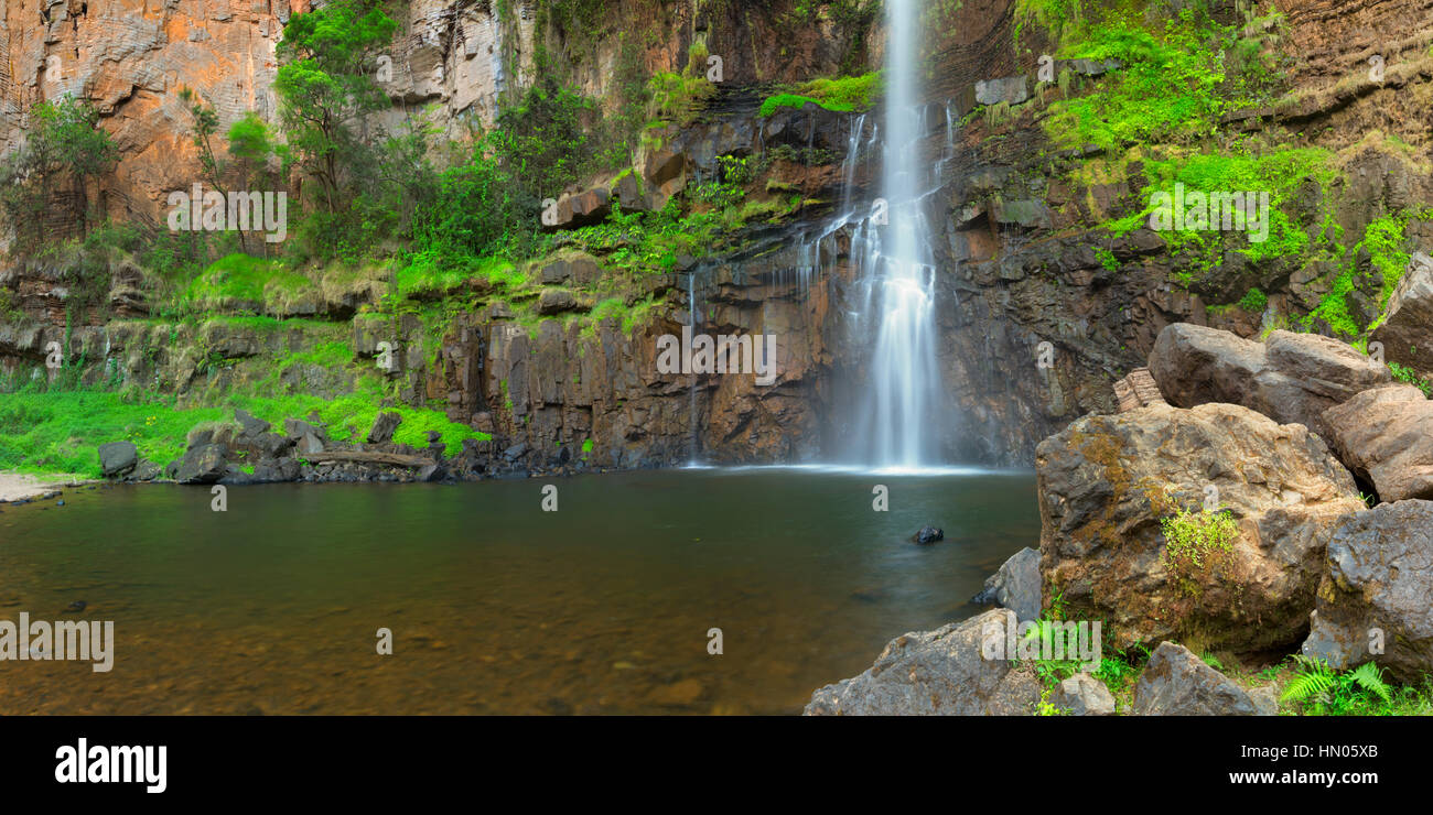 The Lone Creek Falls, one of the stops along the Panorama Route near the Blyde River Canyon in South Africa. - Stock Image