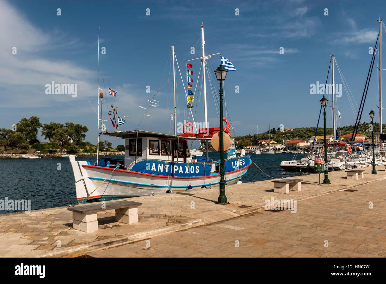 Anti Paxos tourist day trip boat - Stock Image